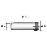 Газовое сопло, цилиндрическое    D 19,0/84,0 мм