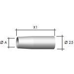 Газовое сопло, коническое        D 18,0/72,0 мм