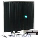 Экран PRAKTIKA 2000, 470*0.4мм, темно-зеленый матовый, ролики