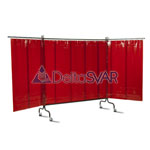 Экран защитный UNIVERSAL 4000, 570*1,0 мм, 4000х2070 мм, красный